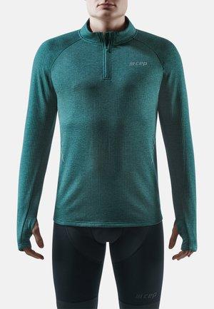 Long sleeved top - green melange