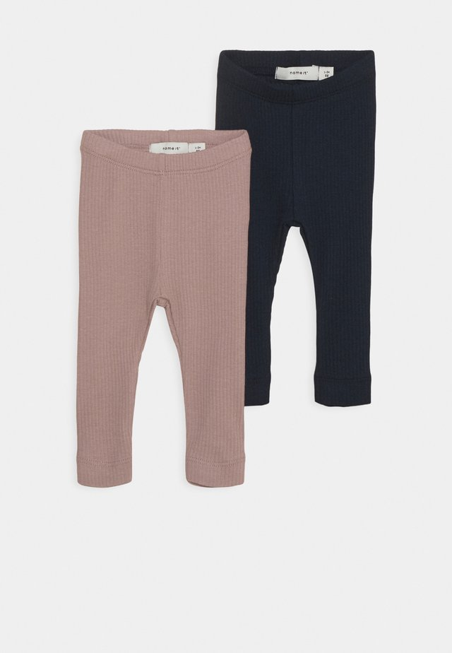 NBFKABEX 2 PACK - Leggings - Trousers - woodrose/dark sapphire