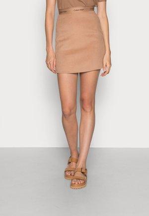SKIRT - Mini skirt - soft camel