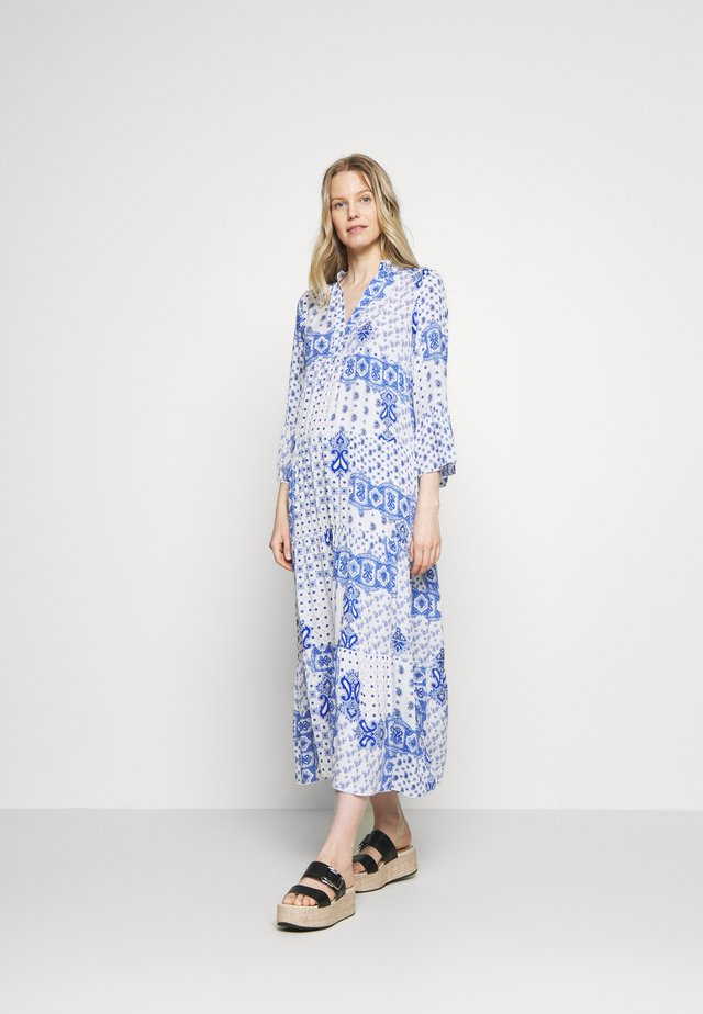 DRESS - Robe longue - white/blue