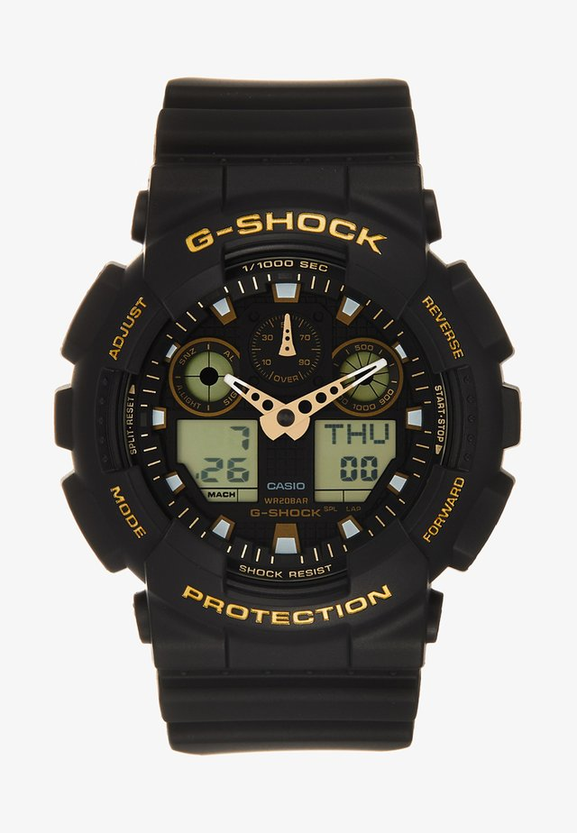 Orologio digitale - schwarz/gold-coloured