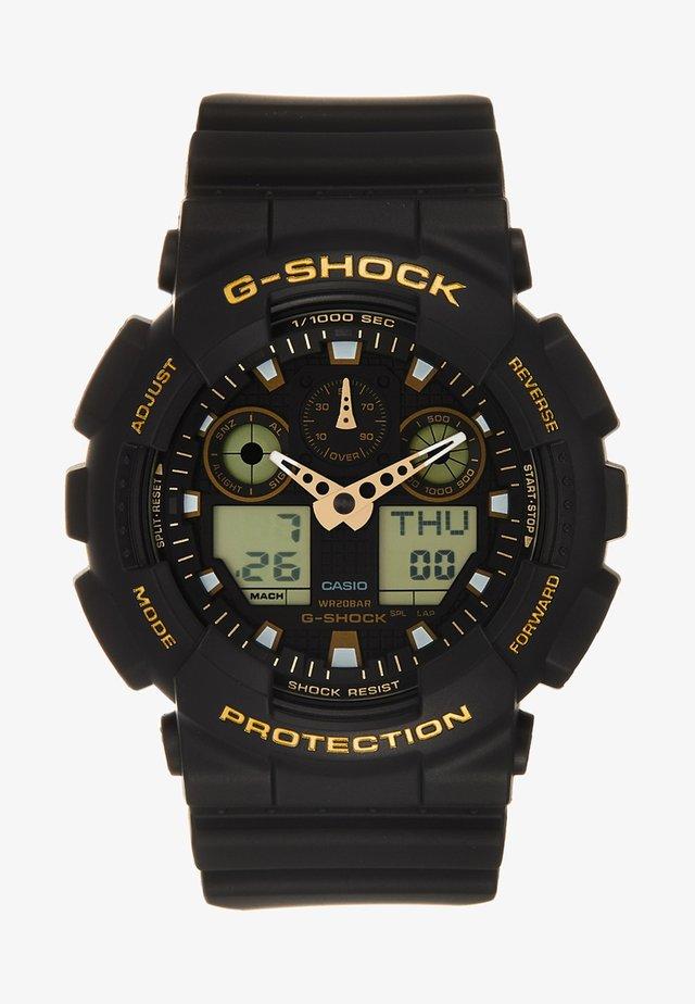 Digitální hodinky - schwarz/gold-coloured