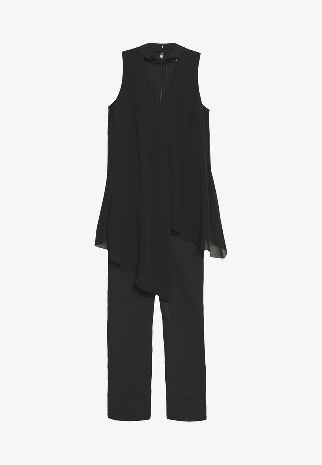 OVERLAYER CHOCKER NECK - Tuta jumpsuit - black