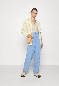 Topshop - SUIT TROUSERS - Pantalones - blue - 1