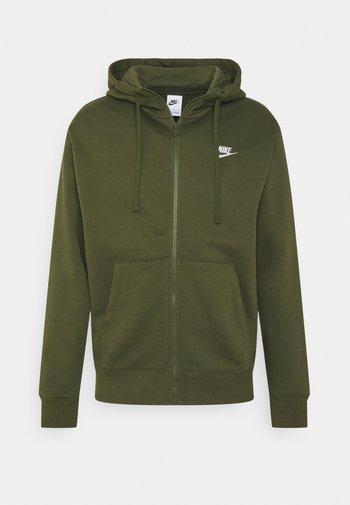 CLUB HOODIE - Zip-up sweatshirt - rough green/white