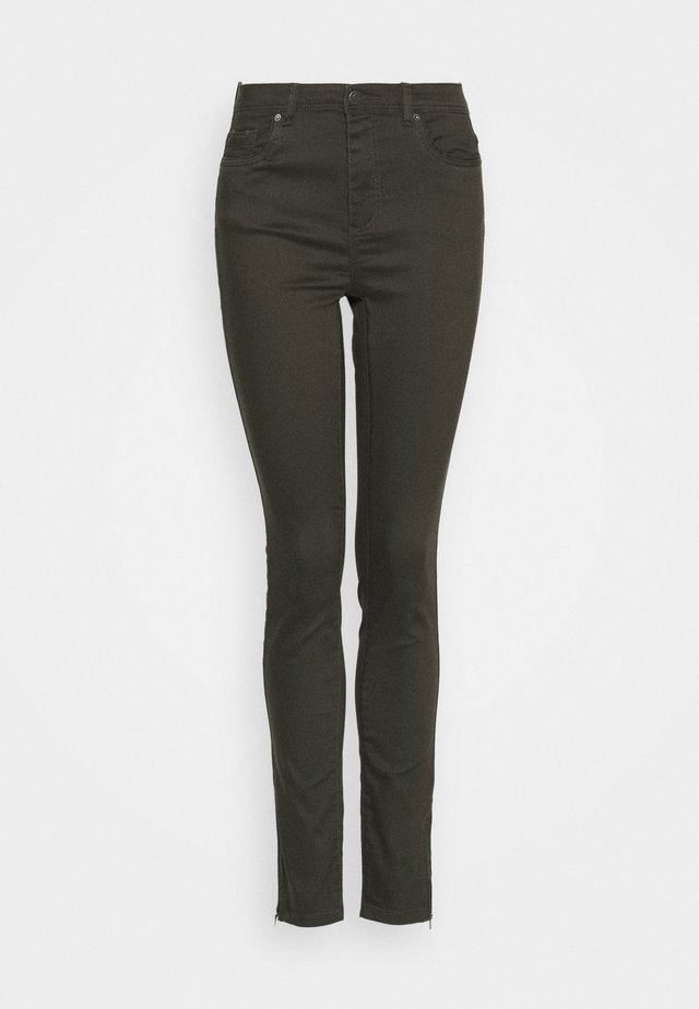 VMTANYA PIPING ANKLE ZIP - Jeans Skinny Fit - peat