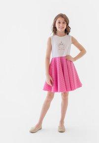 Evika Kids - WITH CAT - Day dress - white - 0