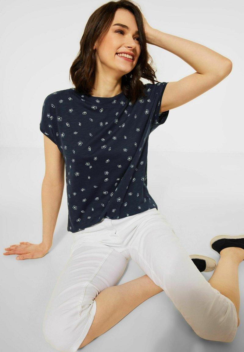 Cecil - MIT MINIMAL PRINT - Print T-shirt - blau