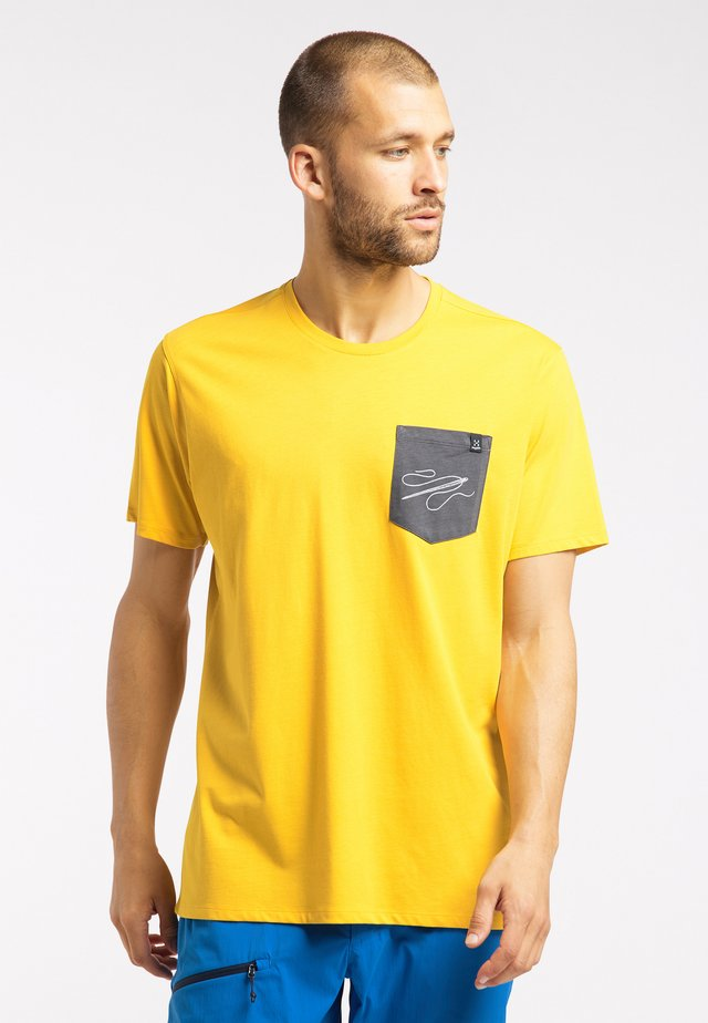 MIRTH  - Print T-shirt - pumpkin yellow