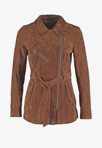Freaky Nation - MODERN TIMES - Leather jacket - camel - 7