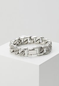 Urban Classics - BIG BRACELET WITH STONES - Bracelet - silver-coloured - 1