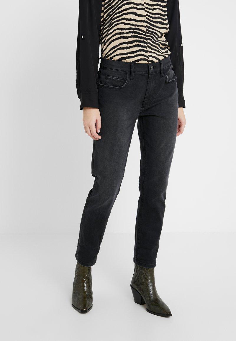 Current/Elliott - THE FLING JEAN - Jeans baggy - black out