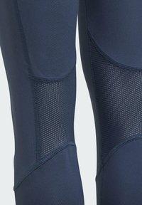 adidas Performance - AEROREADY HIGH-RISE COMFORT WORKOUT YOGA LEGGINGS - Collants - blue - 3