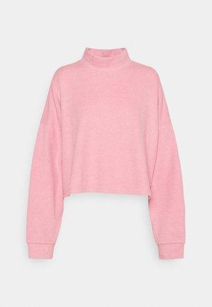 BRINA BRUSHED MOCK NECK - Sweatshirt - blush