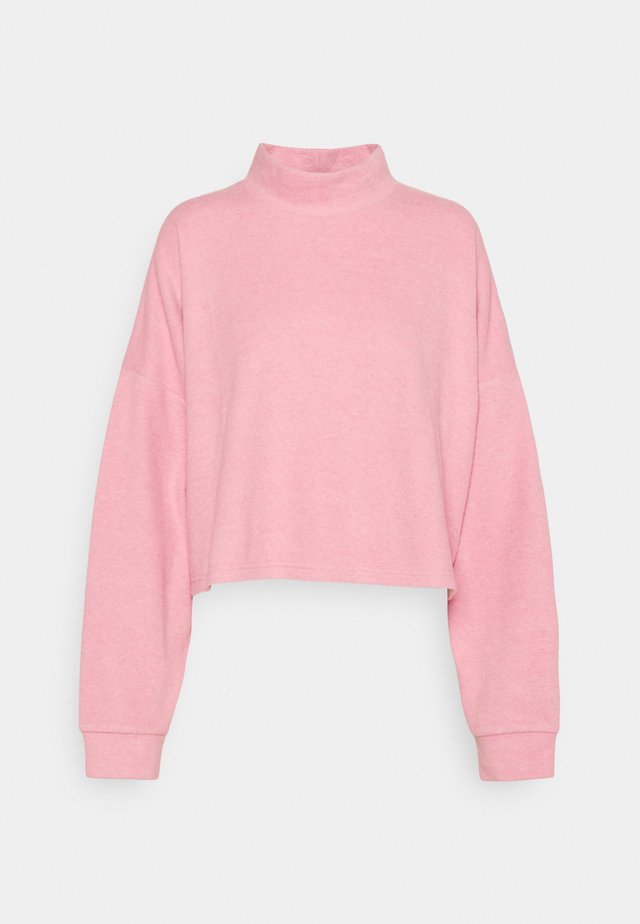 BRINA BRUSHED MOCK NECK - Sweatshirt - blush