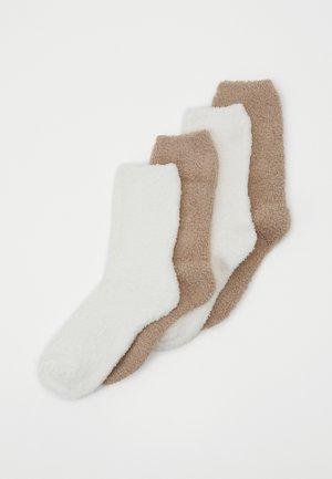 WOMEN COSY SOCKS 4 PACK - Socks - taupe