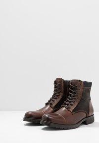Jack & Jones - JFWMARSHALL - Lace-up ankle boots - cognac - 2