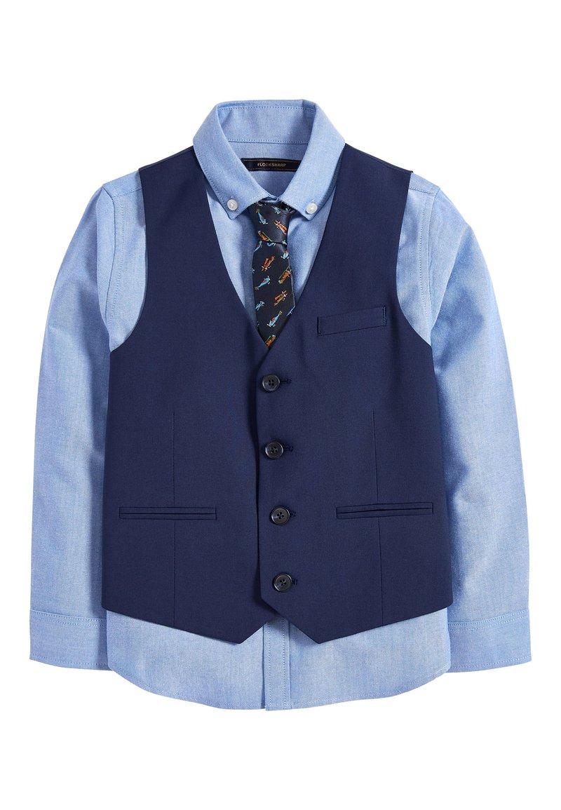 Next - NAVY AEROPLANE WAISTCOAT SET (12MTHS-16YRS) - Suit waistcoat - blue