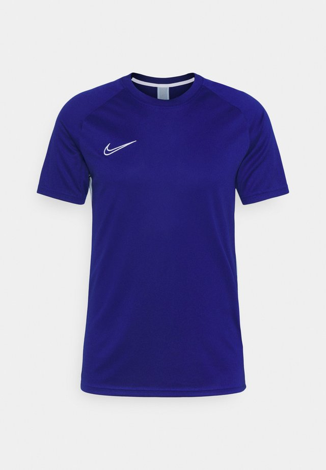 DRY ACADEMY - T-shirt con stampa - deep royal blue/light armory blue/white
