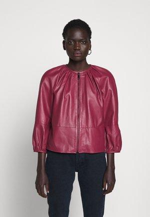 DEPONGO - Kožená bunda - capnella rose
