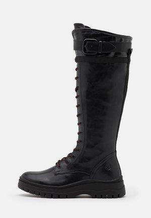 BOOTS - Botas con cordones - black