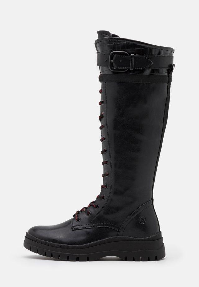 BOOTS - Nauhalliset saappaat - black