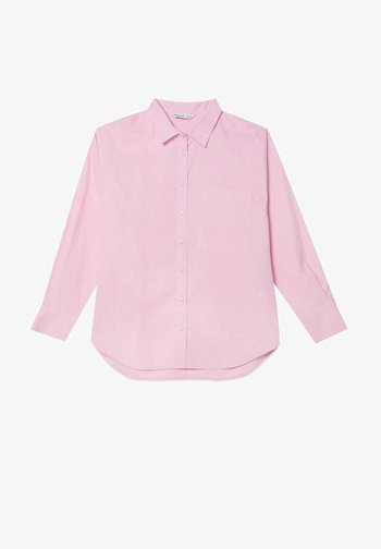 Button-down blouse - mottled pink