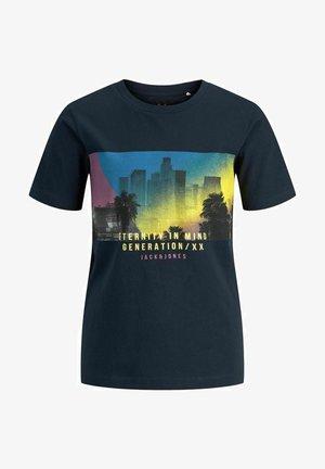 JJURBAN CITY TEE CREW NECK - T-shirt z nadrukiem - navy blazer