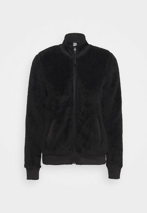 ONPJAEL FLUFFY ZIP JACKET - Fleecová bunda - black