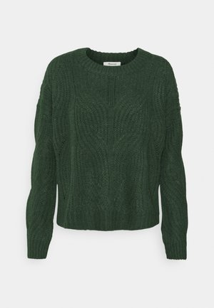 DASHER STITCH CREW - Jumper - moss