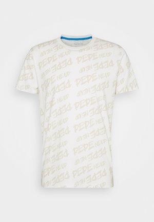MARIO UNISEX - T-shirt imprimé - oyster