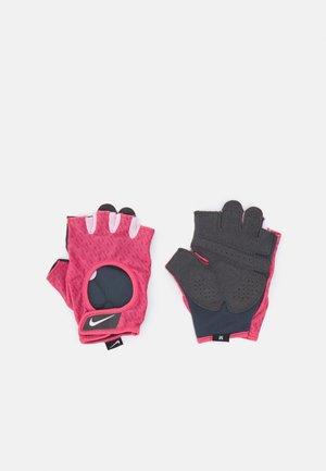 WOMENS GYM ULTIMATE FITNESS GLOVES - Fingerhansker - archaeo pink/regal pink/regal pink