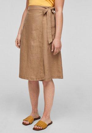 A-line skirt - dark beige melange
