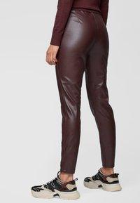 BOSS - Leggings - Trousers - dark red - 2