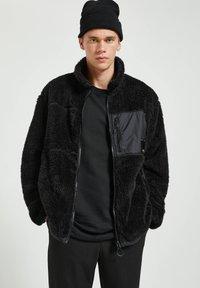 PULL&BEAR - Fleece jacket - mottled black - 0