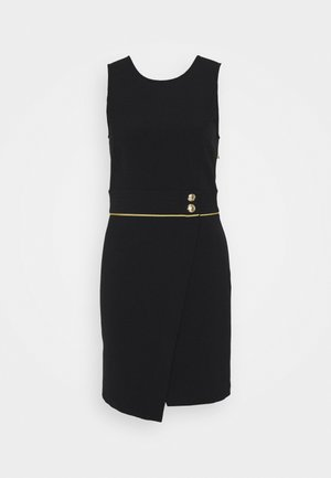 GOLD BUTTON DRESS - Day dress - nero