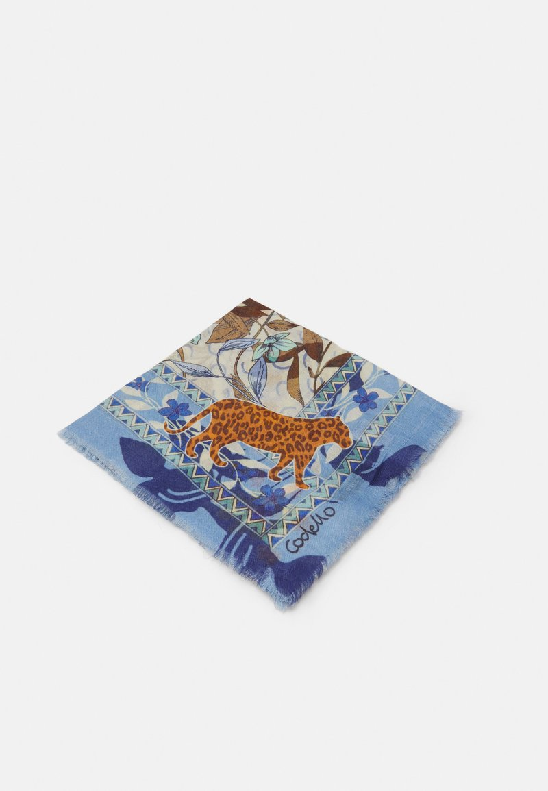 Codello - ANIMALS SIGNATURE HERRINGBONE - Foulard - jeans blue