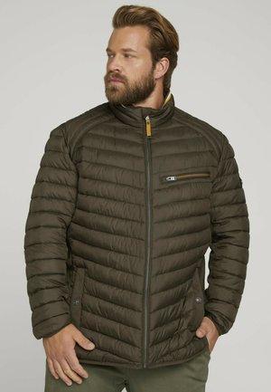 LIGHTWEIGHT STEPPJAKE MIT STEHKRAGEN - Winter jacket - olive night green
