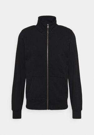 MENS - Sweater met rits - black