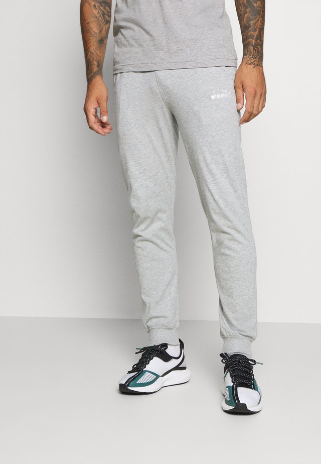 CUFF PANTS CORE LIGHT - Pantaloni sportivi - light middle grey melange