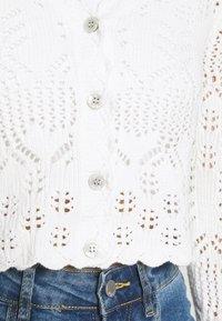Monki - PEARL CARDIGAN - Kardigan - white - 3