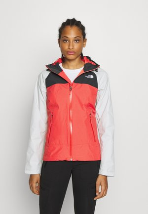 STRATOS JACKET - Hardshell jacket - cayenn red/tingry/asphalt grey