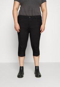 ONLY Carmakoma - CARAUGUSTA LIFE KNICKERS - Shorts - black - 0