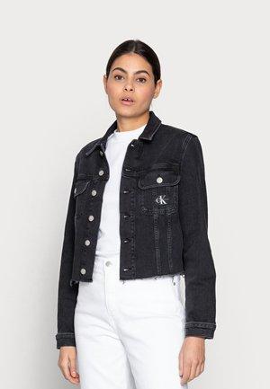 CROPPED 90S JACKET - Veste en jean - black
