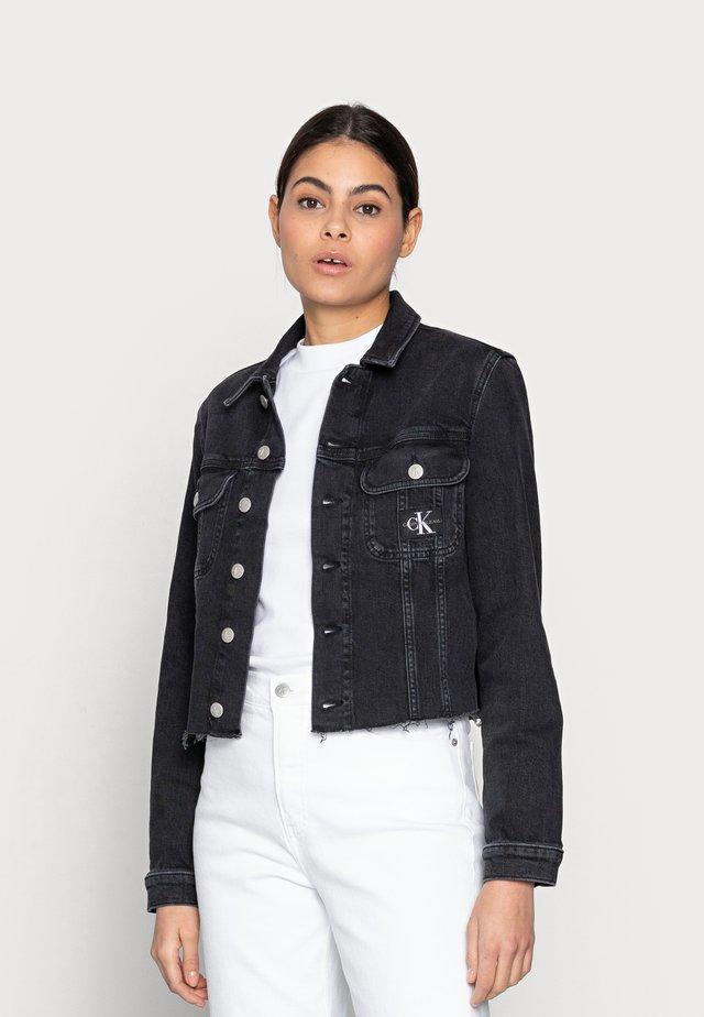 CROPPED 90S JACKET - Denim jacket - black