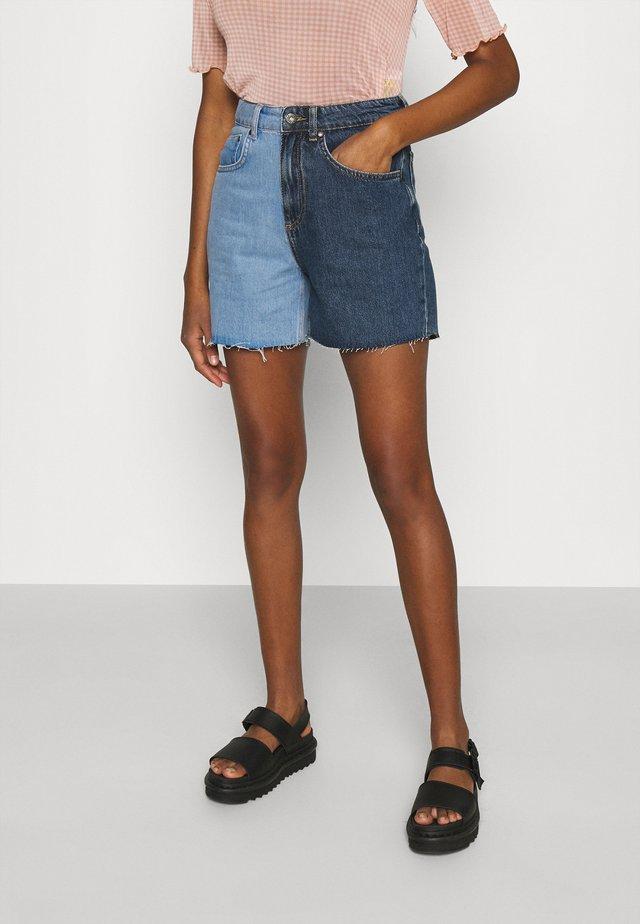 HALF & HALF - Denim shorts - light blue