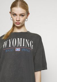 Even&Odd - Print T-shirt - anthracite - 3