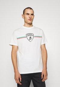 AUTOMOBILI LAMBORGHINI - T-shirt con stampa - avorio - 0