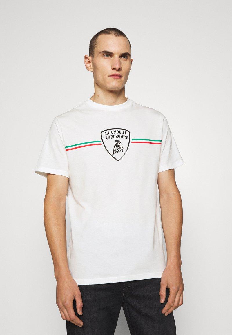 AUTOMOBILI LAMBORGHINI - T-shirt con stampa - avorio