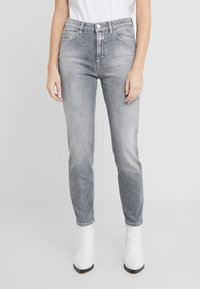 CLOSED - BAKER HIGH  HIGH WAIST CROPPED LENGTH - Slim fit jeans - mid grey - 0